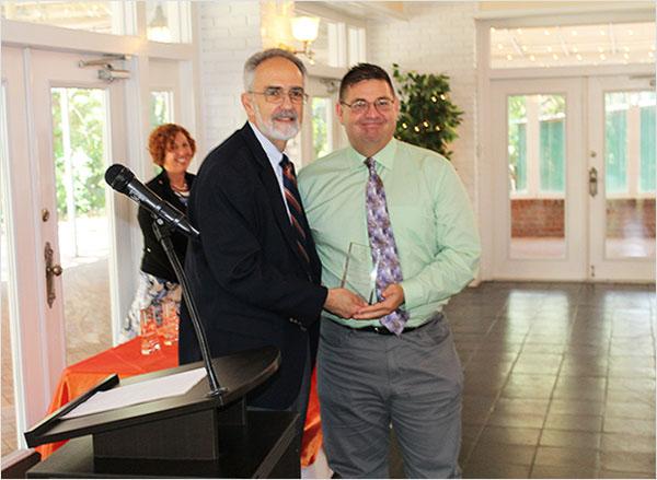PHHP Dean Michael Perri and Public Health Champions awardee Jeff Feller